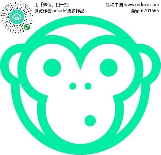猴脸标志设计