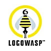 黄色小蜜蜂标志矢量素材