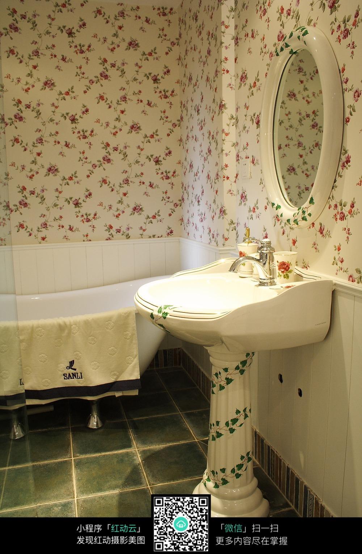田园风格洗手间装修图片图片