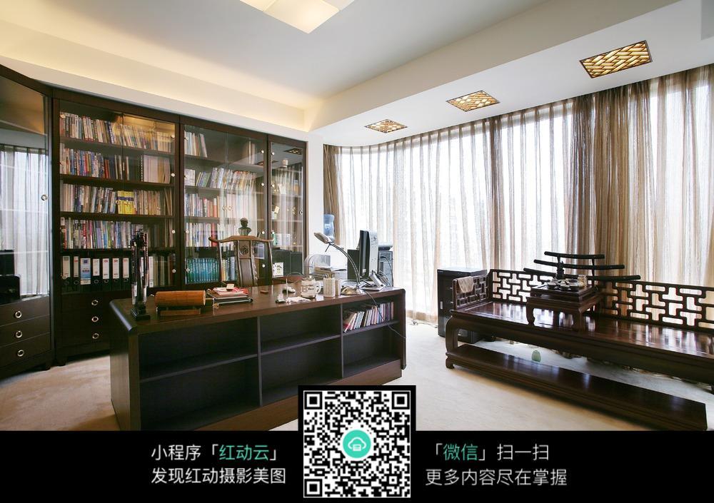 新中式办公室设计图片