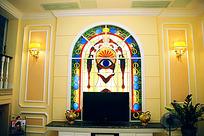 欧式个性电视机背景墙装修效果图