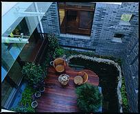 别墅露天庭院俯视图
