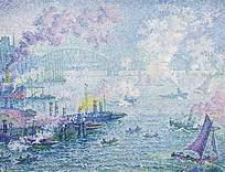 油画效果欧美风海上战争图片素材