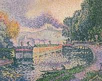 油画效果乡村风格图片素材