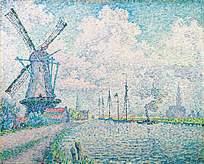 河边的风车