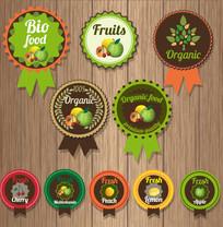 10款创意有机水果徽章