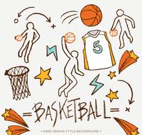 11款彩绘篮球元素