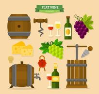 14款扁平化葡萄酒