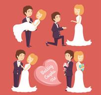 4款幸福婚礼新人