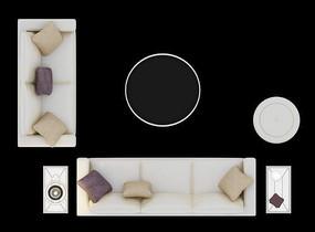 沙发摆放效果图