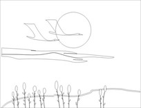 大雁雕刻图案