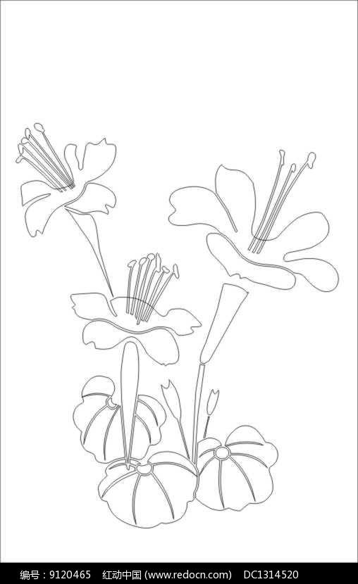花素雕刻图案图片