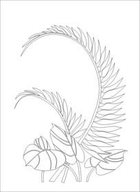 马蹄叶雕刻图案