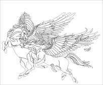 抽象马雕刻图案