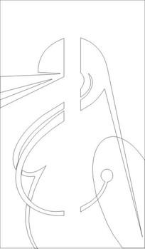 抽象线图雕刻图案