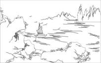 大海雕刻图案