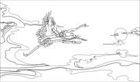 飞鹤雕刻图案