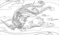 凤凰雕刻图案