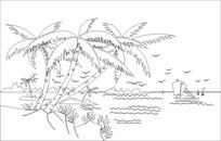 黄金海岸雕刻图案