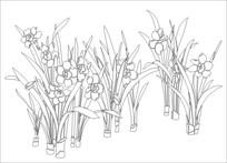 水仙花雕刻图案