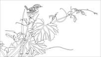 小鸟雕刻图案