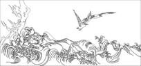 小鸟觅食雕刻图案