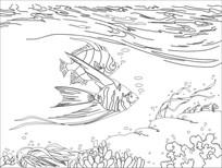 游鱼雕刻图案