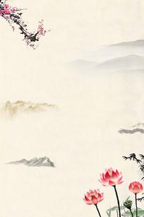 中国风山水图水墨