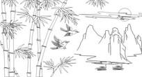 竹报平安雕刻图案