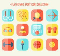 12款彩色奥运会比赛项目图标