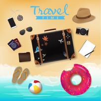 12款夏季沙滩上的度假物品