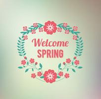 创意春季花环
