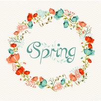 春季鲜花花环