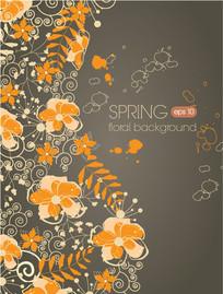 精美春季花卉装饰背景