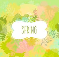 清新水彩春季背景