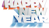 新年快乐英文美术字