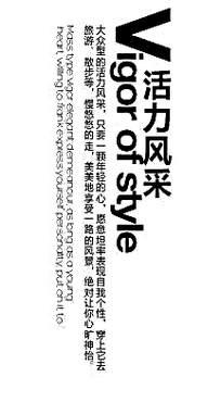 活力风采黑色字体版块