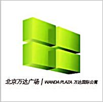 彩色北京万达广场文字图形组合
