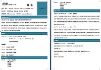 蓝色科技版简历模板