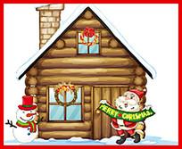 圣诞木屋矢量素材
