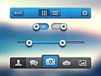 简约蓝灰手机主题图标