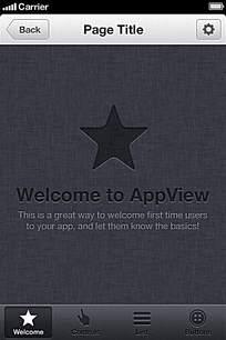手机网页界面模板设计