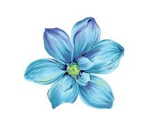 矢量蓝色小花