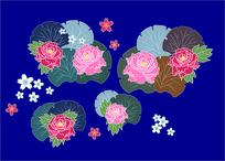 矢量特色樱花牡丹花图片