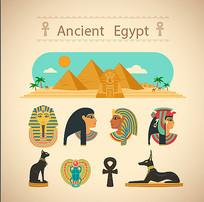 埃及元素矢量素材