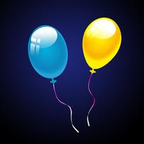气球分层素材
