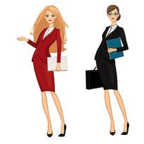 穿正装女人的卡通人物