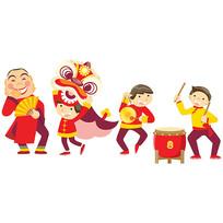 春节卡通人物素材
