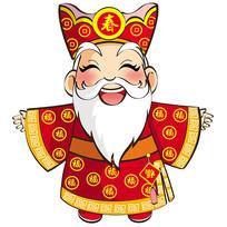 春节老人卡通人物