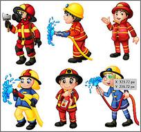 消防员卡通素材